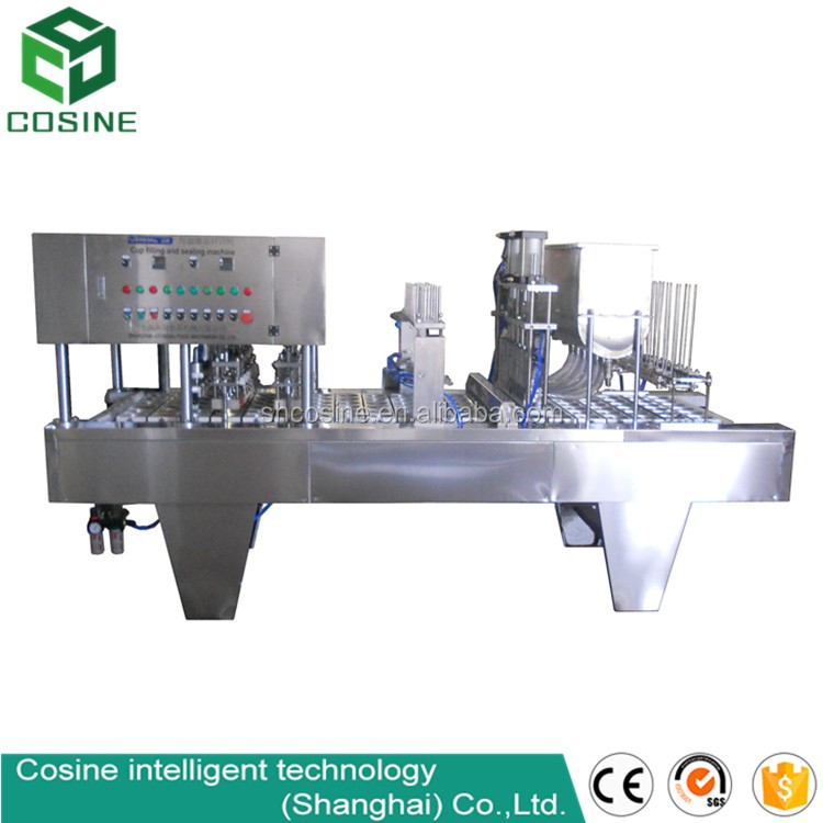 Automatic bubble tea cup sealing machine plastic juice cup heat sealing machine plastic cup filling sealing machine