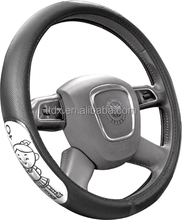 funny car accessories 3 wheel anime car steering wheel cover rubber covers