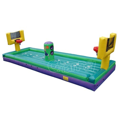 3 in 1 sport game Basketball Bungee run Inflatable Bungee Run for sale