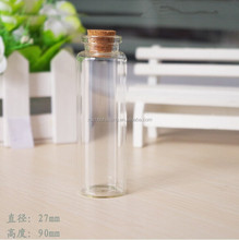 High quality 30ml borosilicate glass test tube with cork wholesale