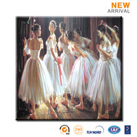 Sample Picture Canvas Ballet Paintings of Dancers