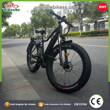 Hot Sell 2017 full suspension mid drive bafang motor 350w fat tire mountain electric bike