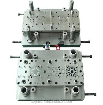 Single row progressive stamping die for rotor and stator
