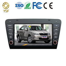 Newest car dvd radio for Skoda OCTAVIA 2014 with 2-Din gps capacitive touch screen support mobile connect 8 inch car dvd player