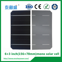 munufacturer direct price, A grade 6 inch 5w monocrystalline solar cells made in China 6x6 silicon wafer for solar cells