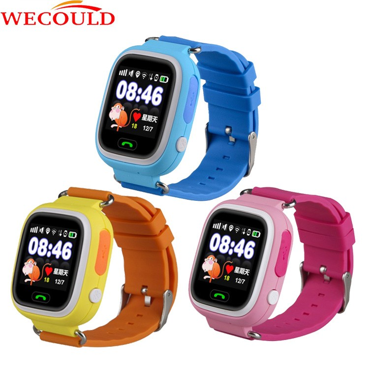 Weculd Q90 colorful touch screen GPS Tracker Kids Smart watch phone build in wifi waterproof