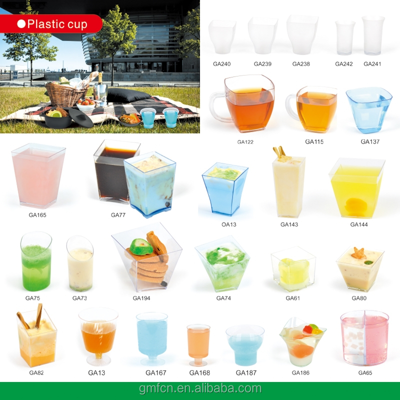 Transparent Ps Food Grade Party Bar Catering Hotel Club Wedding disposable plastic shot glass