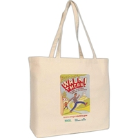 Full Color Print Jumbo Tote Bag - made from 10 oz. cotton and comes with your logo.