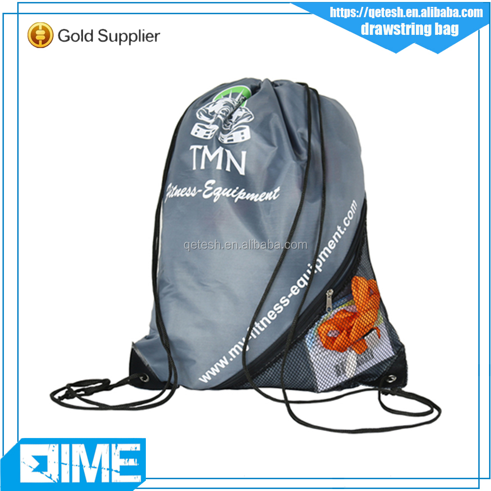 Wholesale Custom Hiking Sports Travel Polyester Drawstring Bags