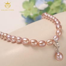 New style real freshwater pearl teardrop beads necklace