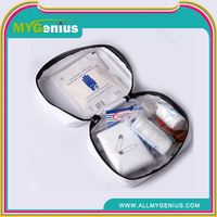 burns first aid kit box ,H0T027 workshop first aid kit , nylon waterproof promotional gift first aid kit