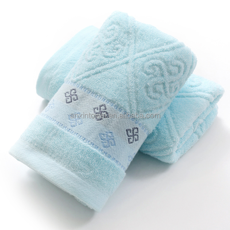 Stock Compact Cotton sports face towels with music staff pattern