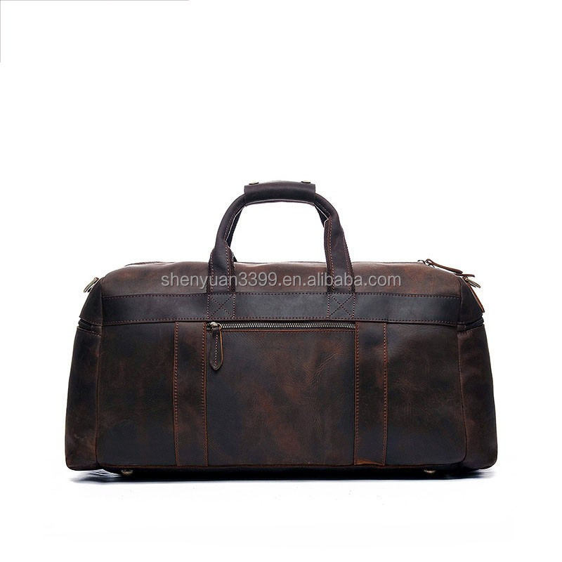2017 genuine leather travel luggage sets bag, fancy portable luggage bags,large capacity black travel bags Taobao