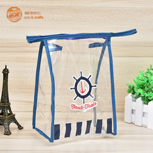 Clear PVC Cosmetic Bag Transparent Zipper Cosmetic Storage Pouch