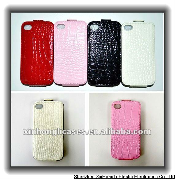 leather case for Iphone4,cell phone accessory
