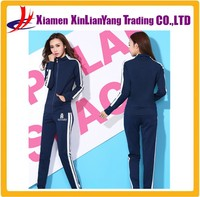 Fashion Plain Sweat Suits Cotton Jogging Suits Women Sports Suit