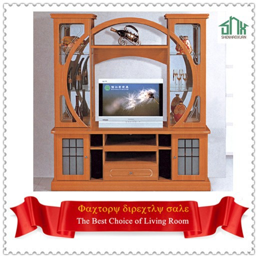 India Style Tv Cabinet With Showcase 805# Led Tv Wall Unit Tv ...