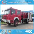 6*4 SINOTRUK HOWO 375HP 12000L water and foam fire pump truck