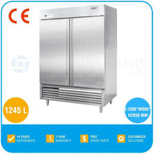 2017 Twothousand's Hot Refrigerated Cabinet TT-GNR1245L2K-D With CE approval Stainess Steel Double Door Refrigerator Dimensions