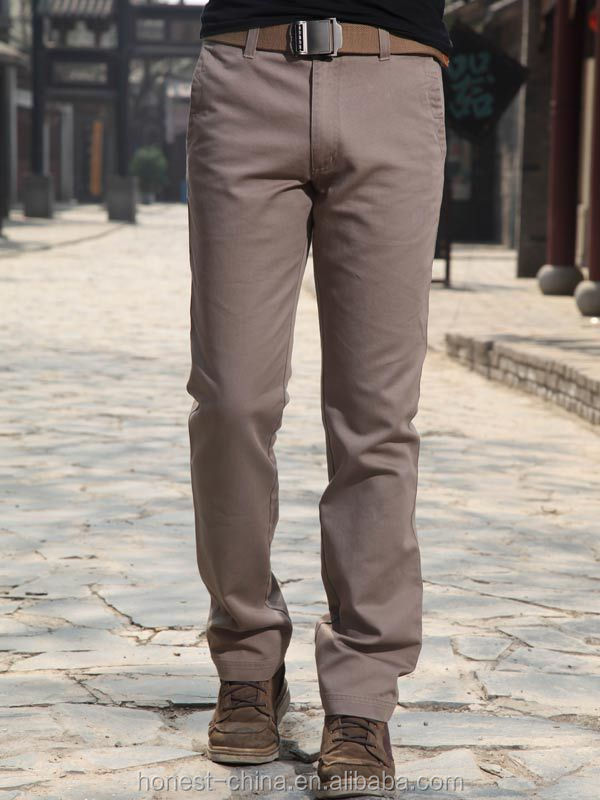 100% cotton mens chino trousers cheap custom casual cargo pants for men