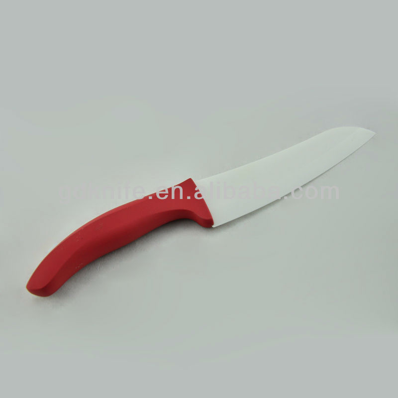 High quality rubber handle ceramic chef knife