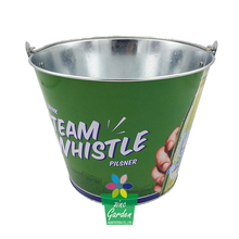 Galvanized promotion item beer logo branded metal ice buckets