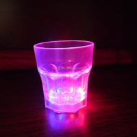2016 Color Changing Glass Cup Crystal Mug for Bar and Party Flashing Light Crystal LED Lamp Cup