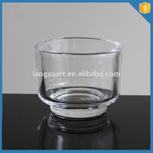LXHY-Z0197 round cheap crystal candle holder with round base