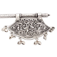 Exclusive Mughal Style Fine Carving White Metal Fan Pankhi