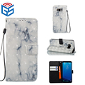 Hot selling 3d marble skin leather flip wallet cover for samsung galaxy note 8 case