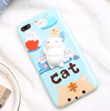New arrival stress reliever 3D squeeze cute cat silicone imd squishy phone case