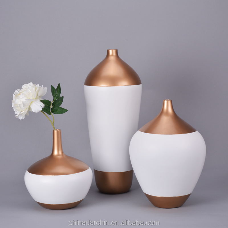 Newest Decorative Polyresin Vases Wedding Centerpieces