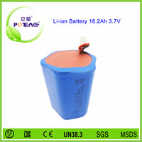 Special shape super li-ion battery pack 3.7v 18.2ah