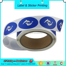 Customized Oval Die Cut Labels , Company Logo Printed Sticker