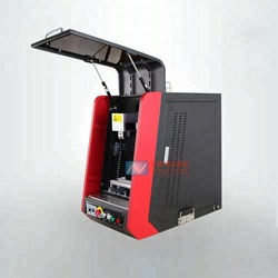 full closed Fiber laser marking machine for Animal Tag PVC with IPG resource