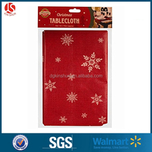 disposable christmas festival table cover cloth holiday decoration ,snowflake ,snowman dining table protective covers