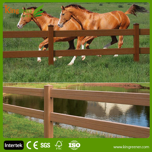 High Quality Wood Plastic Composite Waterproof Fencing Cheap Horse Rail Fence