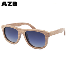 AZB 2017 High Quality <strong>bamboo</strong> branded polarized men sunglasses designe brand dropshiping