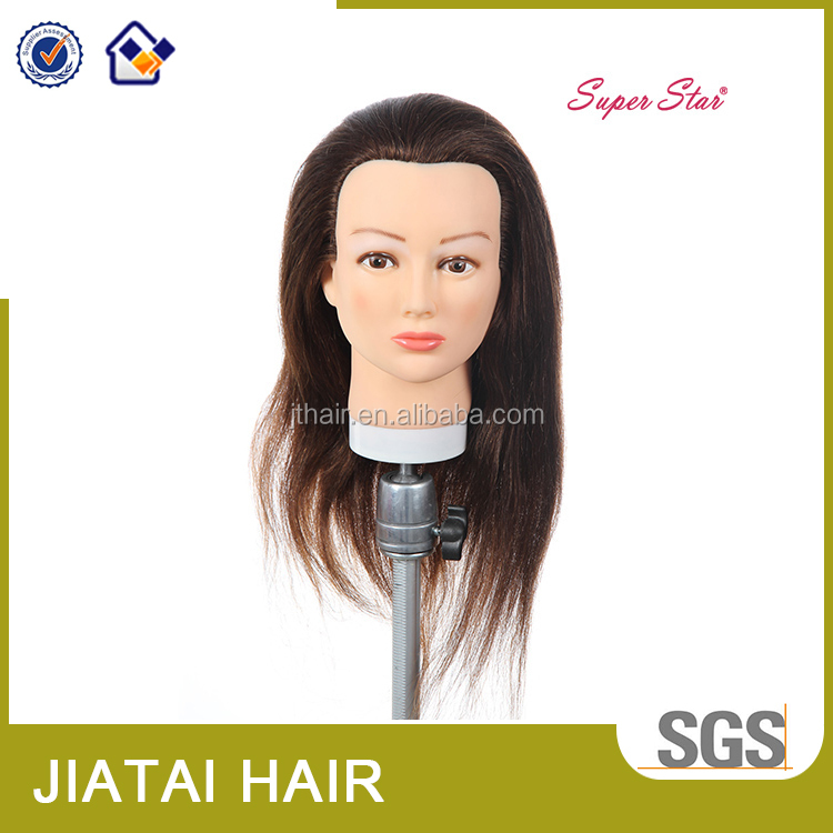 full cutile human hair training head for hairdresser