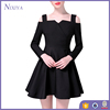 2017 Spring Fashion Women Long Sleeve Cold Shoulder Casual Dresses
