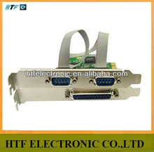 Customized Express 2 Serial And 1 Parallel Port Card /RS232 serial Port PCI network adapter