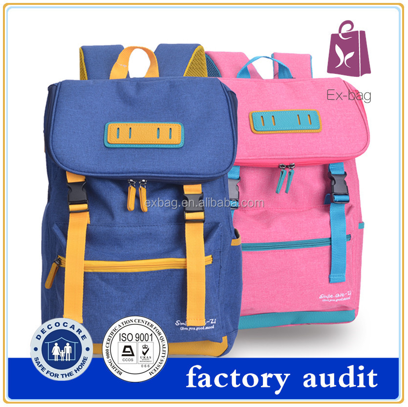 2016 Hot selling unique backpack school bag for teenagers