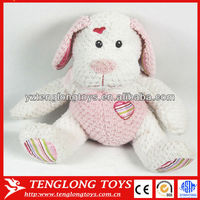 2014 New material pink print stuffed plush dog toy