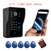 FDL-WFK12 wifi doorbell Support Wireless unlock iOS Android APP, Wifi intercom support PIR,Wireless Video Door Phone