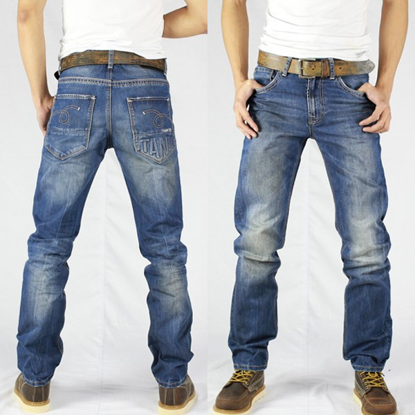 OEM/Wholesale HIGH-END new style jeans pent men oil stain look denim jeans