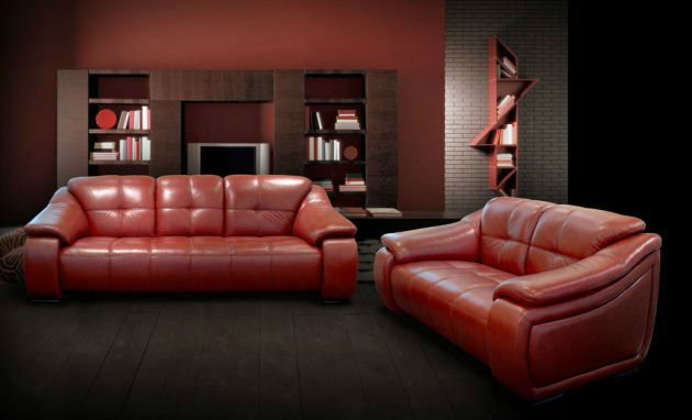 FKS-LX-8306 Living room furniture leather sofa set