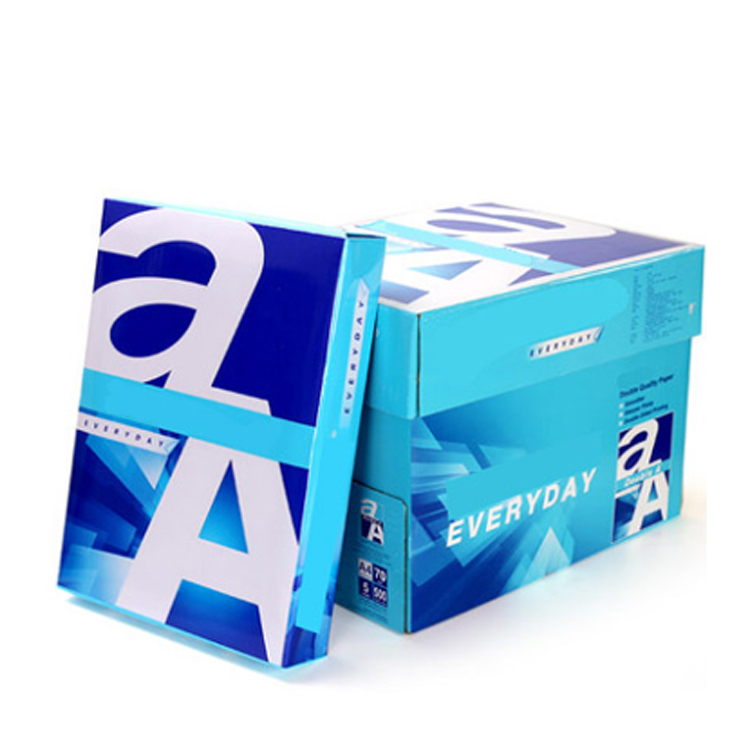 Wholesale office colored Cheap 75gsm Ultra white copy printing A4 Paper