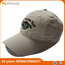 100% cotton embroidery baseball cap with metal clasp
