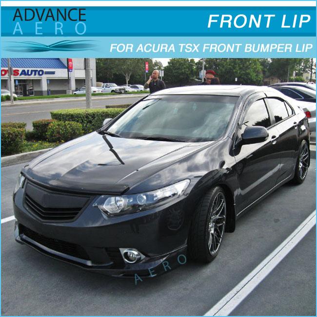 FOR ACURA TSX URETHANE FRONT BUMPER LIP SPOILER BODYKITS - Acura tsx front lip