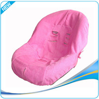 Washable pink infant car seat cover